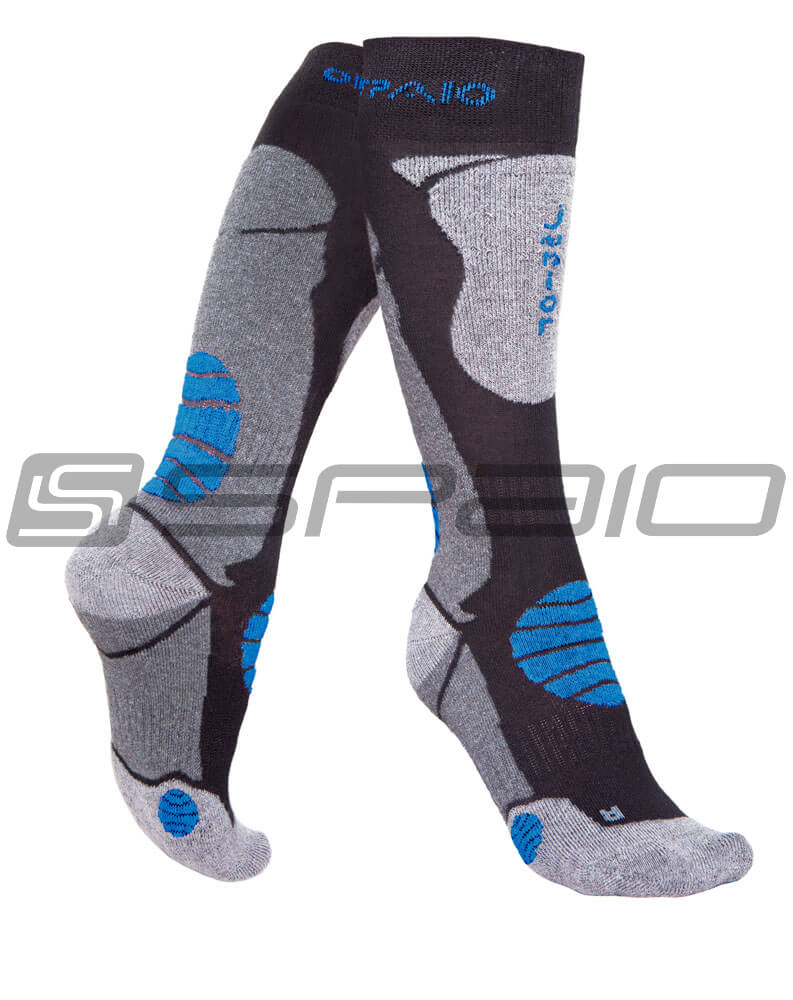 SKARPETY THERMO JUNIOR BLACK/GREY/BLUE