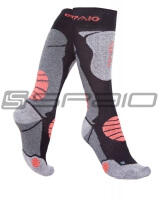 SKARPETY THERMO JUNIOR BLACK/GREY/BLUE #2
