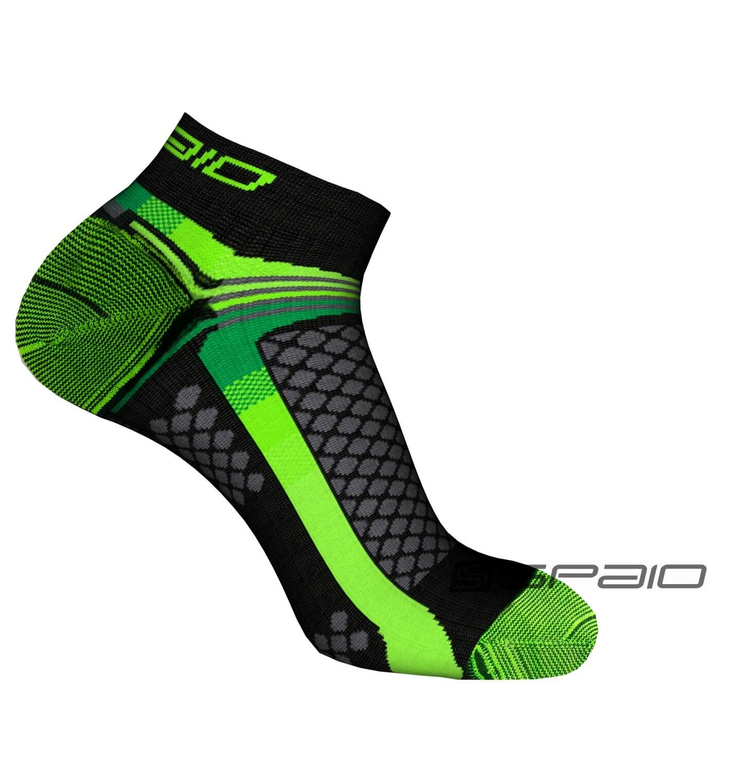 SKARPETY MULTISPORT 01 BLACK/GREEN #2