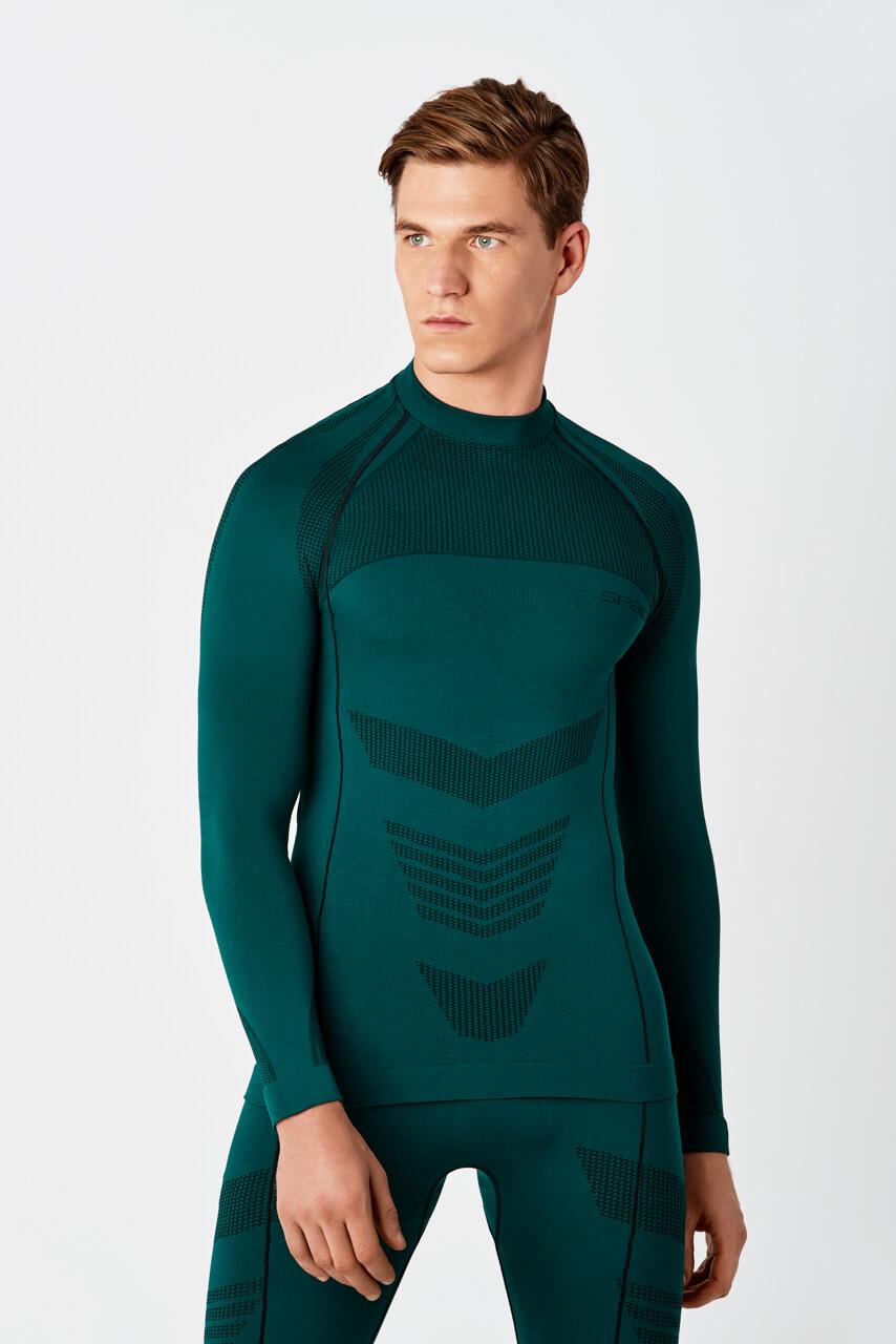 Męska kompresja Bielizna termiczna ciepłe koszulka z długim