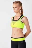 TOP DAMSKI TOP INFORCE NET BLACK/FLUO YELLOW