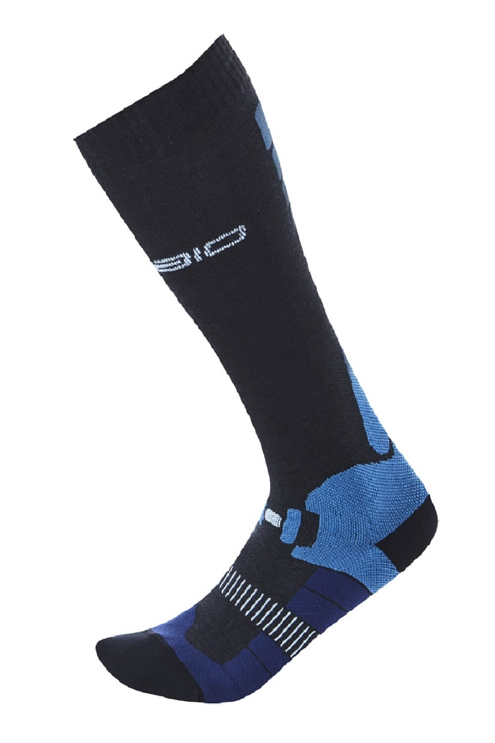 SPAIO SKAR. COMPRESSION WOOL-COMFORT ANTRACITE/BLUE